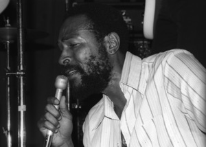 Marvin Gaye at his 40th birthday party being given by Motown Records1979© 1979 Bobby Holland - Image 12163_0048