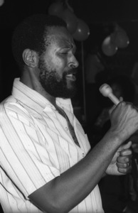 Marvin Gaye at his 40th birthday party being given by Motown Records1979© 1979 Bobby Holland - Image 12163_0060
