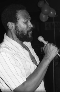 Marvin Gaye at his 40th birthday party being given by Motown Records1979© 1979 Bobby Holland - Image 12163_0061