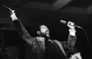 """Marvin Gaye performing at """"Motown Records Night"""" at the BRE Convention in Universal City, CA 1979 © 1979 Bobby Holland - Image 12163_0072"""