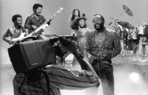 Marvin Gaye at a music video shoot in Los Angeles 02-02-1979 © 1979 Bobby Holland - Image 12163_0080