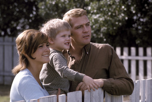 Lee Majors with his son, Lee Majors II, and Patti Chandler1965 © 1978 Gene Trindl - Image 12177_0020