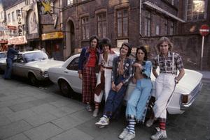 The Bay City Rollers (Stuart John Wood, Les McKeown, Alan Longmuir, Eric Faulkner, Derek Longmuir)circa 1974© 1978 Gunther - Image 12179_0003
