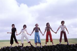 The Bay City Rollers (Stuart John Wood, Les McKeown, Alan Longmuir, Eric Faulkner, Derek Longmuir)circa 1974© 1978 Gunther - Image 12179_0010