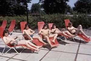 The Bay City Rollers (Stuart John Wood, Les McKeown, Alan Longmuir, Eric Faulkner, Derek Longmuir)circa 1974© 1978 Gunther - Image 12179_0027