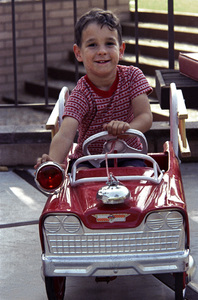 Kids CategoryRon Avery riding a Pedal Car1961 © 1978 Sid Avery - Image 12261_0018