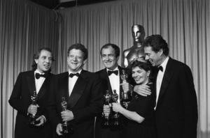 """The 60th Annual Academy Awards""Mark Peploe, Jeremy Thomas, Bernardo Bertolucci, Gabriella Cristiani, Vittorio Storaro1988 © 1988 Gunther - Image 12279_0020"