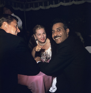 """Cobina Wright Party"" Ronald Reagan, Joan Fontainecirca 1955 © 1978 Wallace Seawell - Image 12358_0024"