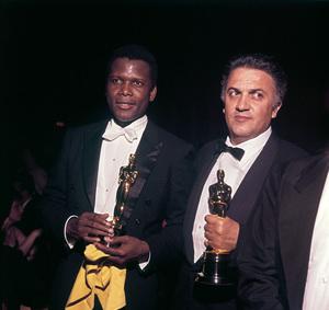"""Academy Awards: 36th Annual""Sidney Poitier, Federico Fellini1964 © 1978 David Sutton - Image 12363_0012"