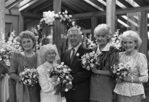 """Golden Girls""Rue McClanahan, Estelle Getty, Jack Gilford, Bea Arthur, Betty White1988© 1988 Gunther - Image 12364_0001"