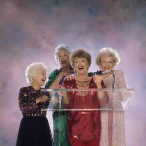 """The Golden Girls"" Estelle Getty, Beatrice Arthur, Rue McClanahan, Betty White circa 1985 © 1985 Mario Casilli - Image 12364_0053"
