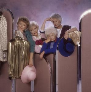 """The Golden Girls"" Estelle Getty, Beatrice Arthur, Rue McClanahan, Betty White circa 1985 © 1985 Mario Casilli - Image 12364_0056"