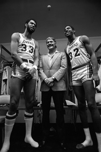 Dr. Jerry Buss with Earvin