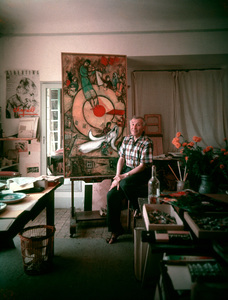 Marc Chagall in his studio in Vence, France 1955 © 2001 Mark Shaw - Image 12406_0007