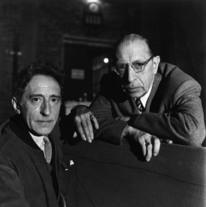 Jean Cocteau and Igor StravinskyParis circa 1950Photo by Sanford Roth© 1998 Los Angeles County Museum of Art - Image 12407_0002