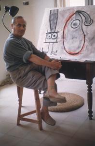 Joan Miro in his Barcelona studio 1955 © 2000 Mark Shaw - Image 12410_0010