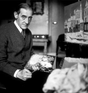 Maurice Utrillo in Le Vesinet, France, circa 1950 © 1978 Sanford Roth /  L.A.C.M.A. - Image 12411_0004