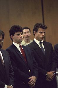 Lyle and Erik Menendez at their trial1990© 1990 Gunther - Image 12429_0002