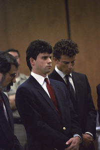 Lyle and Erik Menendez at their trial1990© 1990 Gunther - Image 12429_0003