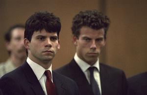 Lyle and Erik Menendez at their trial1990© 1990 Gunther - Image 12429_0004