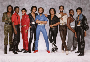 Earth Wind & Fire (Verdine White, Philip Bailey, Ralph Johnson, Larry Dunn, Maurice White, Roland Bautista, Andrew Woolfolk, Johnny Graham, Fred White)1981 © 2009 Bobby Holland - Image 12444_0024