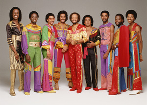 Earth Wind & Fire (Verdine White, Philip Bailey, Ralph Johnson, Larry Dunn, Maurice White, Roland Bautista, Andrew Woolfolk, Johnny Graham, Fred White)1981 © 2009 Bobby Holland - Image 12444_0026