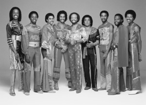 Earth Wind & Fire (Verdine White, Philip Bailey, Ralph Johnson, Larry Dunn, Maurice White, Roland Bautista, Andrew Woolfolk, Johnny Graham, Fred White)1981 © 2009 Bobby Holland - Image 12444_0027