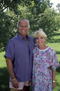 Gavin MacLeod at home with his wife Patticirca 1980s© 1980 Gene Trindl - Image 12445_0019