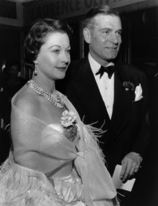 "Laurence Olivier and Vivien Leigh at the premiere of ""The Prince and the Showgirl""1957 - Image 1248_0007"