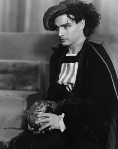 """Laurence Olivier at The Old Vic Theatre, in character for a 1936 stage production of """"Hamlet""""Photo by J. W. Debenham - Image 1248_0014"""