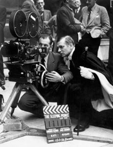 """Laurence Olivier directing """"The Prince and the Showgirl""""1957** I.V. - Image 1248_0548"""