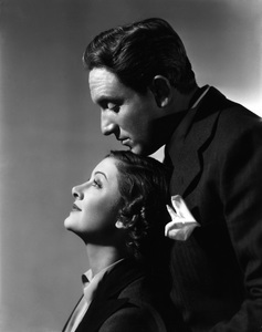 """Spencer Tracy and Myrna Loy in """"Whipsaw"""" 1935 © 1978 Ted Allan"""