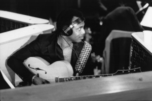 George Benson at the recording session for Frank Sinatra