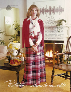 Rene Russo in a Pendleton clothing advertisement1974 © 1978 Sid Avery - Image 12560_0040