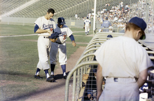 The Los Angeles Dodgers playing at the Los Angeles Memorial Coliseumcirca 1960 © 1978 Bernie Abramson - Image 12577_0010