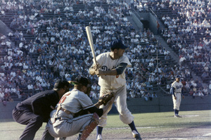 The Los Angeles Dodgers playing at the Los Angeles Memorial Coliseumcirca 1960 © 1978 Bernie Abramson - Image 12577_0015
