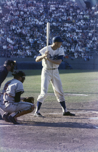 The Los Angeles Dodgers playing at the Los Angeles Memorial Coliseumcirca 1960 © 1978 Bernie Abramson - Image 12577_0016