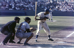 The Los Angeles Dodgers playing at the Los Angeles Memorial Coliseumcirca 1960 © 1978 Bernie Abramson - Image 12577_0017