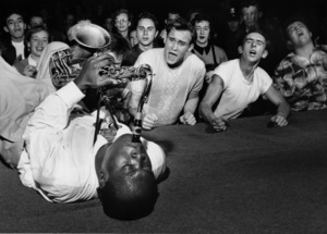 Big Jay McNeely and fans at the Olympic Auditorium, Los Angeles, CA, October 1950. © 1978 Bob Willoughby / MPTV - Image 12596_1