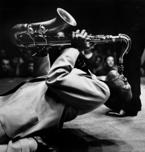 Big Jay McNeely at the Olympic Auditorium, Los Angeles, CA, October 1950. © 1978 Bob Willoughby / MPTV - Image 12596_202