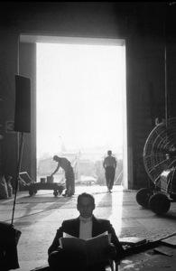 """Can Can""Frank Sinatra reading his script at Fox Studios, 1959. © 1978 Bob Willoughby - Image 1260_0014"