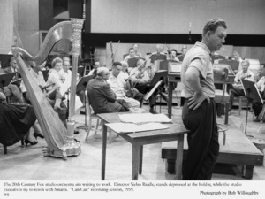 """""""Can Can""""Studio Orchestra waits to record. 1959 © 1978 Bob Willoughby - Image 1260_0026"""