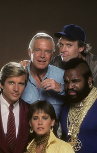 """The A-Team""Dirk Benedict, George Peppard, Dwight Schultz, Mr. T, Melinda Culea1984 © 1984 Mario Casilli - Image 12608_0025"