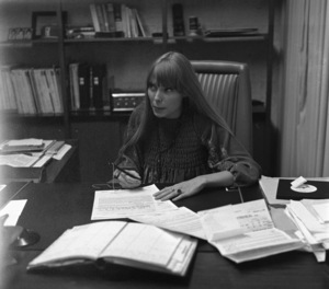 Joni Mitchell at contract signing1967© 1978 Ed Thrasher - Image 12614_0035
