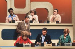 """Match Game PM""Gene Rayburn & Panelists1976 CBSPhoto By Gabi RonaMPTV - Image 1270_0006"