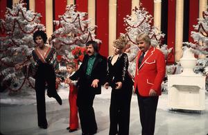 """The Sonny and Cher Comedy Hour""Cher, Chastity Bono, Sonny Bono, Bernadette Peters, Bob Keeshancirca 1973Photo by Gabi Rona - Image 1273_21"