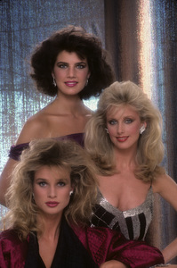 """Paper Dolls"" Nicollette Sheridan, Morgan Fairchild, Terry Farrell1984© 1984 Mario Casilli - Image 12763_0002"