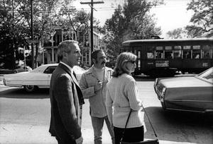 """The Drowning Pool""Paul Newman, director Stuart Rosenberg, Joanne Woodward1975 Warner BrothersPhoto by Mel Traxel - Image 12767_0002"