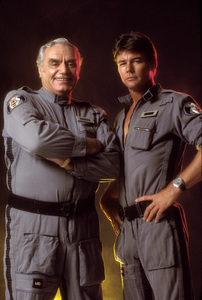 """Airwolf""Ernest Borgnine, Jan-Michael Vincent 1984 © 1984 Mario Casilli - Image 1283_0006"