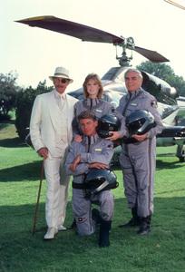 """Airwolf""Alex Cord, Jean Bruce Scott, Jan Michael Vincent,Ernest Borgnine1985 CBS{ 1985 Gene Trindl - Image 1283_0008"